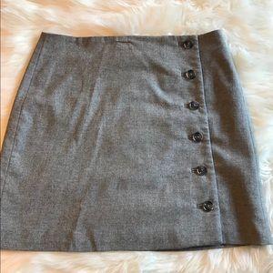 Banana Republic Gray Wool Mini Skirt Sz6 Blk Label